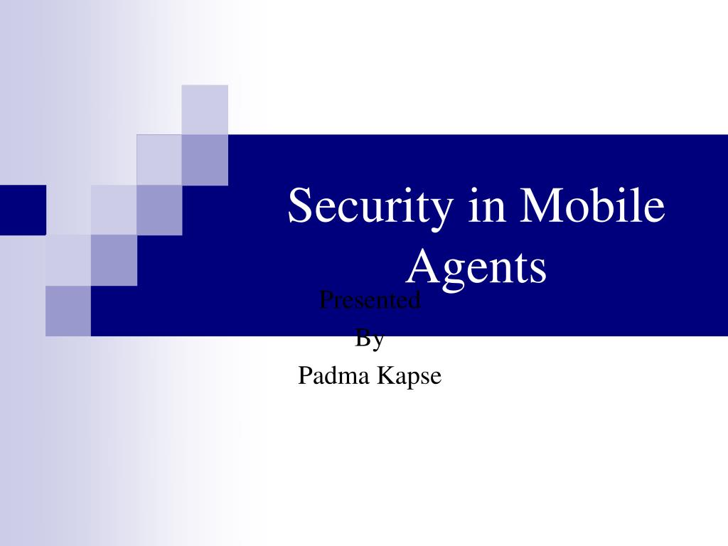 security in mobile agents l.