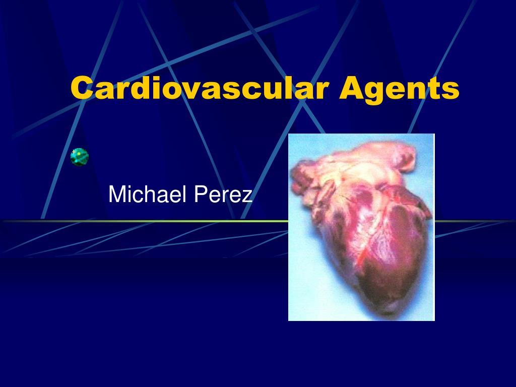 cardiovascular agents l.