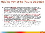 how the work of the ipcc is organized