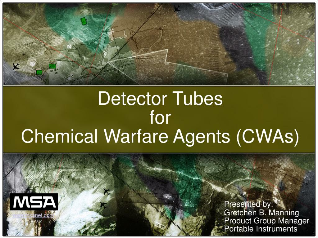 detector tubes for chemical warfare agents cwas l.