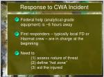 response to cwa incident