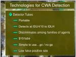technologies for cwa detection7