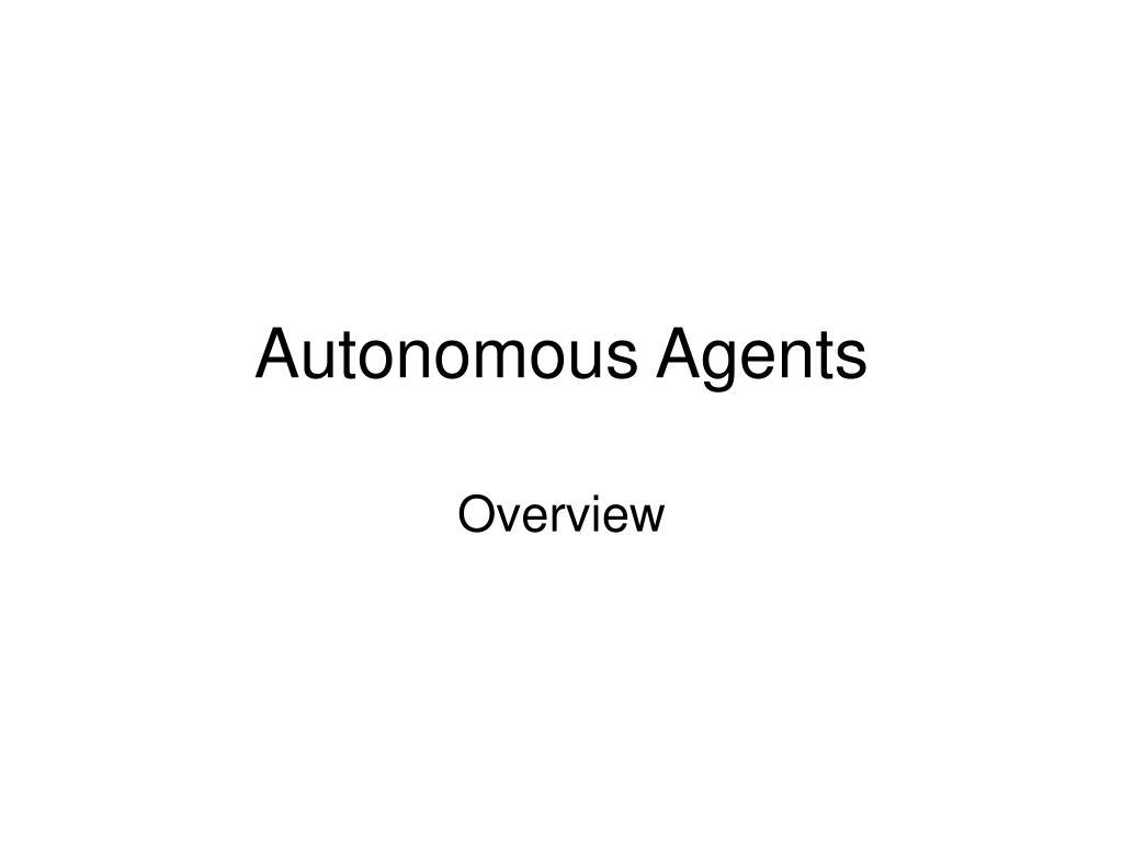 autonomous agents l.