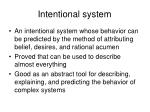 intentional system