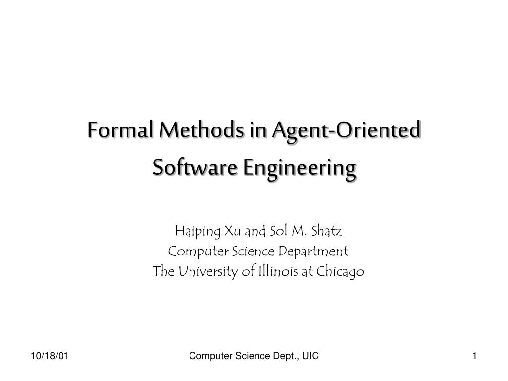 formal methods in agent oriented software engineering l.