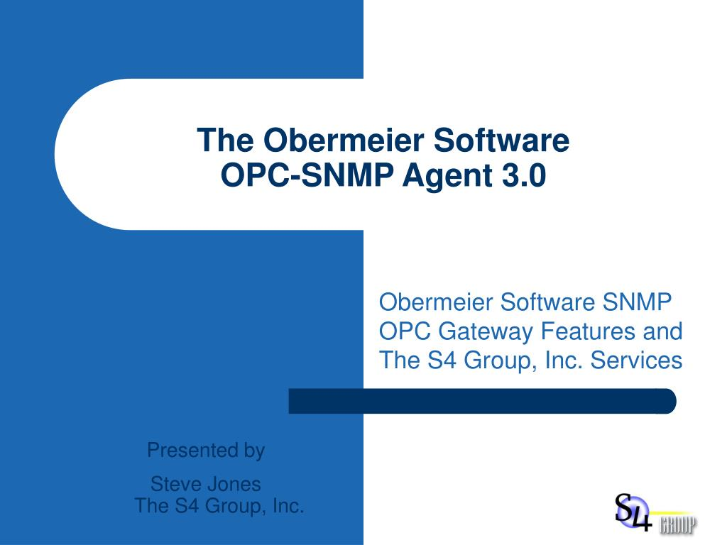 the obermeier software opc snmp agent 3 0 l.