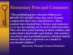 elementary principal comments1