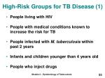 high risk groups for tb disease 1