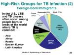 high risk groups for tb infection 2 foreign born immigrants