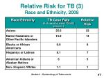 relative risk for tb 3 race and ethnicity 2008