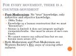 for every movement there is a counter movement
