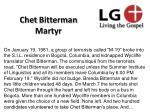 chet bitterman martyr