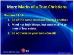 more marks of a true christians