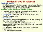 burden of cvd in pakistan1