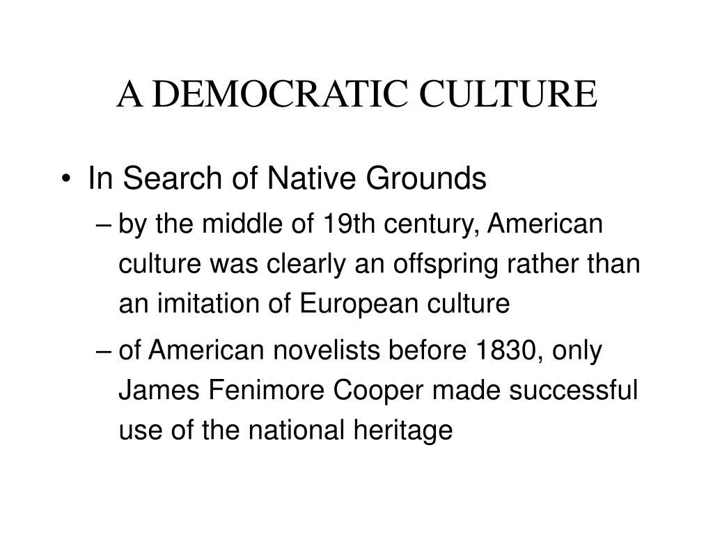 a democratic culture l.
