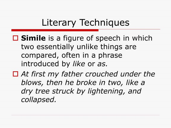 Literary techniques1
