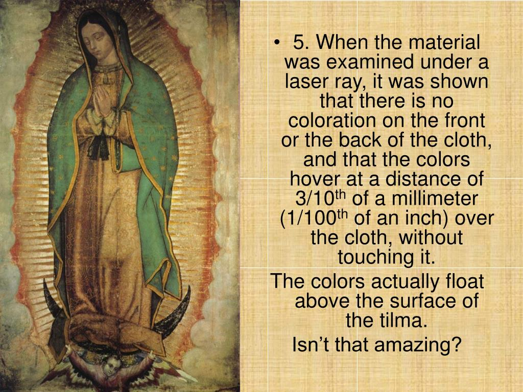 5. When the material was examined under a  laser ray, it was shown that there is no coloration on the front or the back of the cloth, and that the colors hover at a distance of 3/10