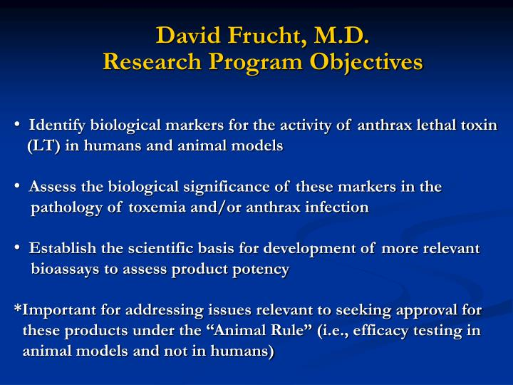 David Frucht, M.D.