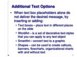 additional text options