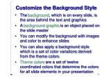 customize the background style