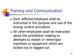 training and communication26