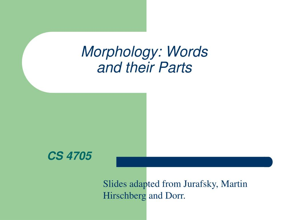 morphology words and their parts l.