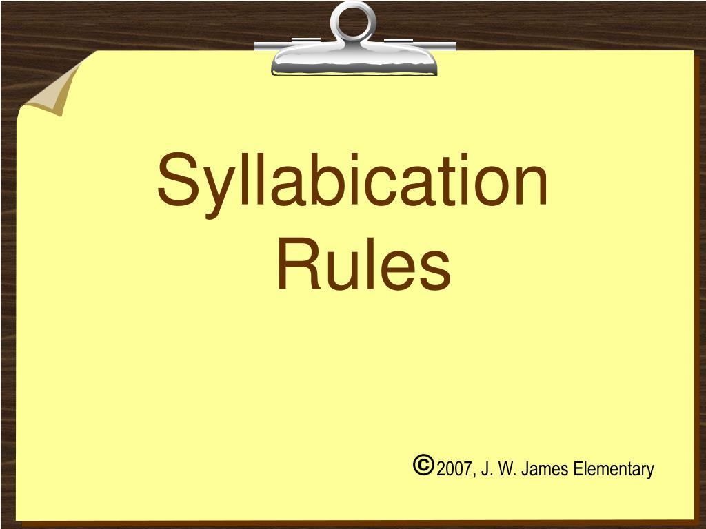 syllabication rules l.