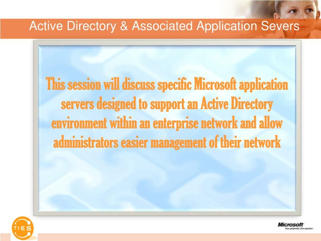active directory associated application severs l.