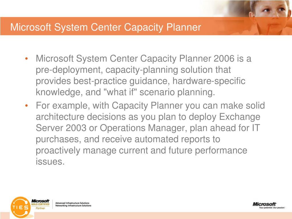 Microsoft System Center Capacity Planner