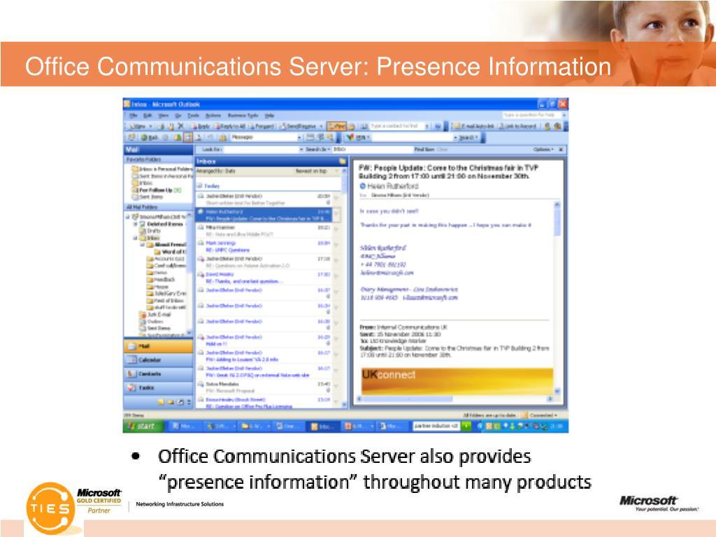 Office Communications Server: Presence Information