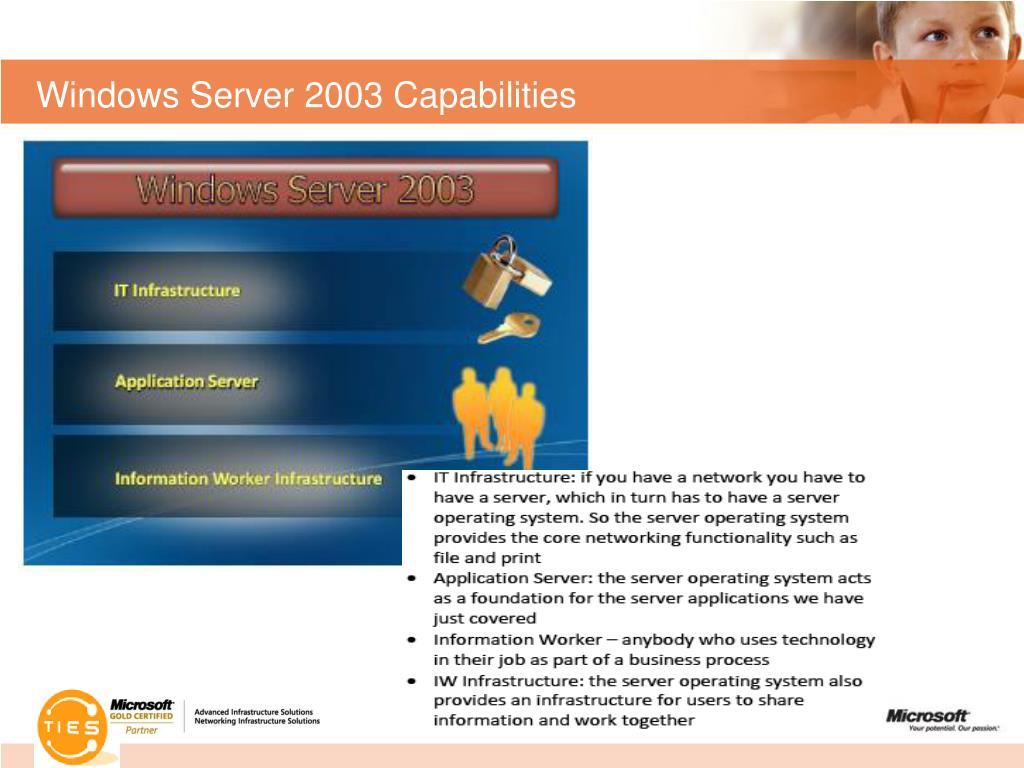 Windows Server 2003 Capabilities