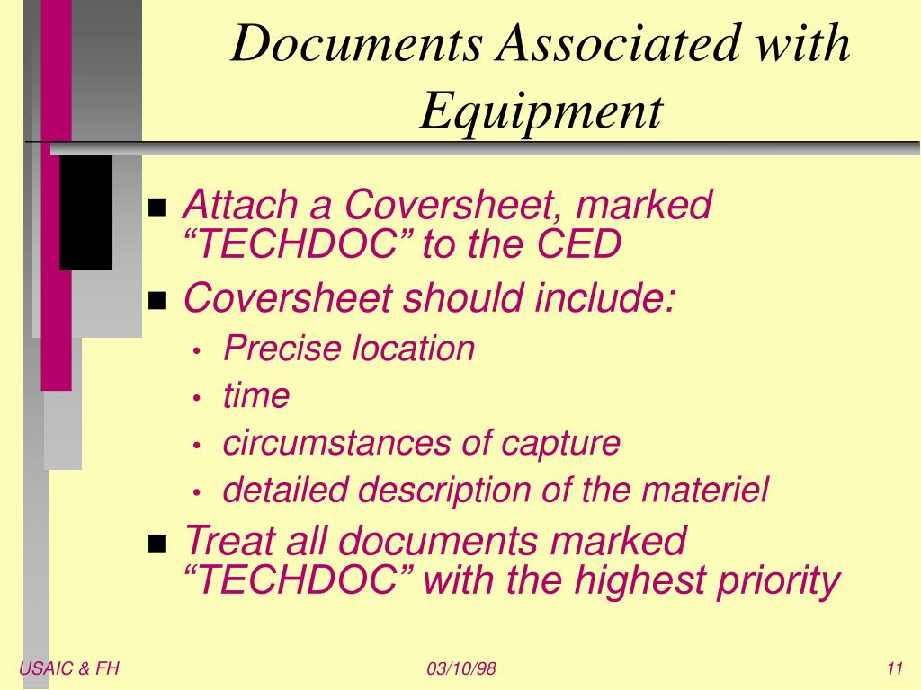 Documents Associated with Equipment