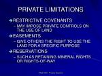 private limitations