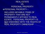 real estate vs personal property