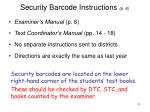 security barcode instructions p 6