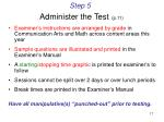 step 5 administer the test p 11