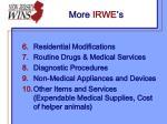 more irwe s