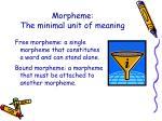 morpheme the minimal unit of meaning