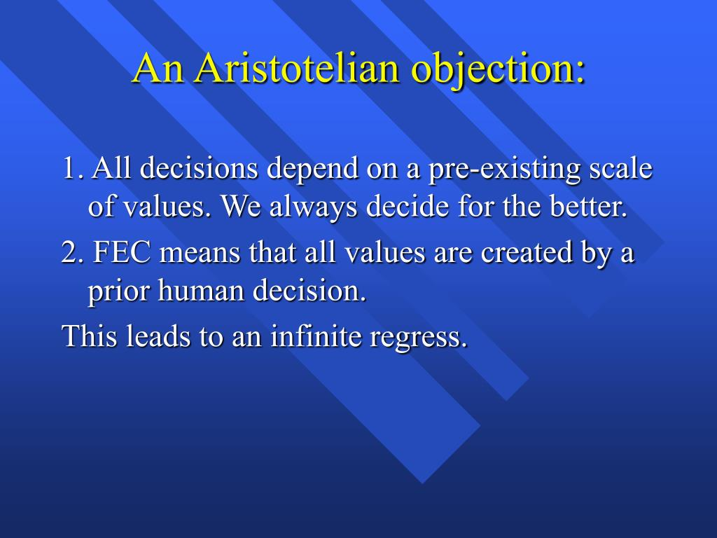 An Aristotelian objection: