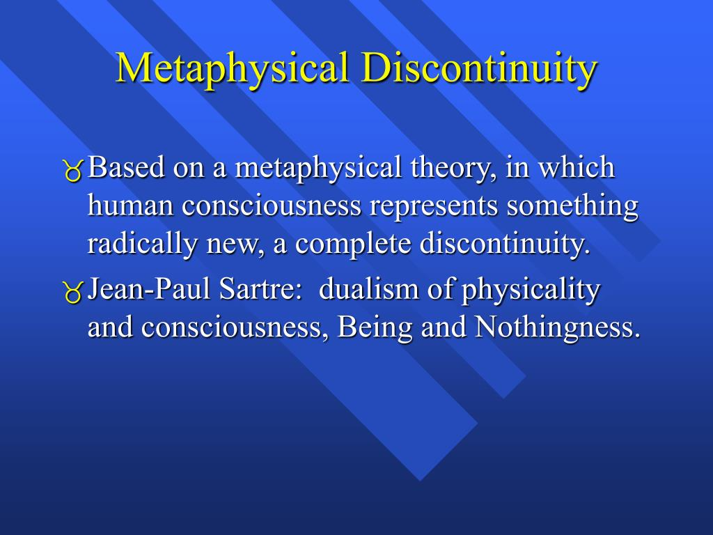 Metaphysical Discontinuity