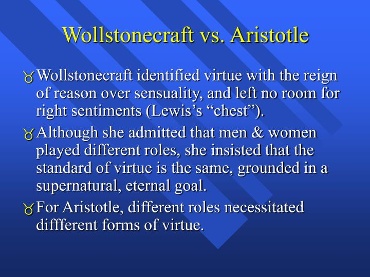 Wollstonecraft vs aristotle
