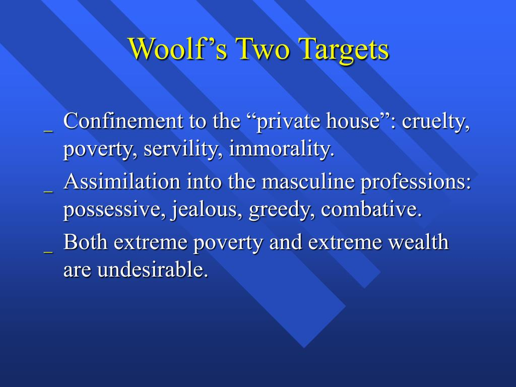 Woolf's Two Targets