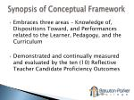 synopsis of conceptual framework