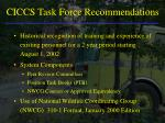ciccs task force recommendations