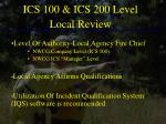 ics 100 ics 200 level local review