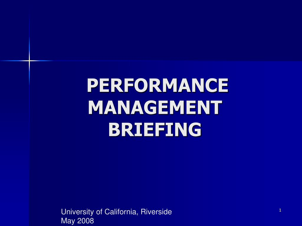 performance management briefing l.