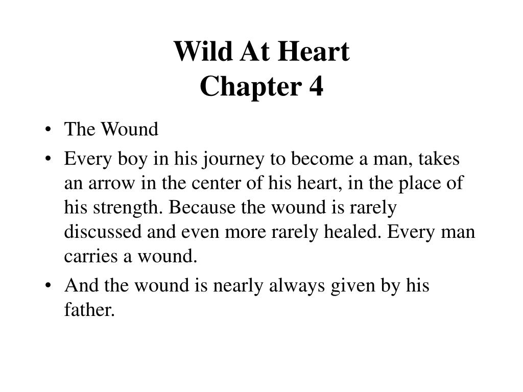 wild at heart chapter 4 l.