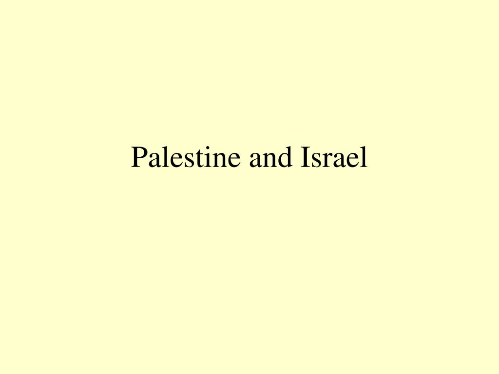 palestine and israel l.