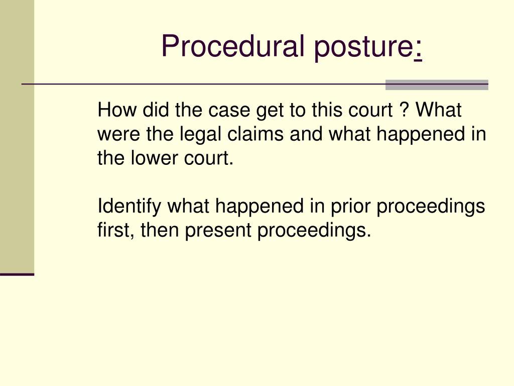 Procedural posture
