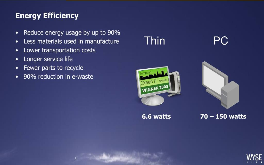 Reduce energy usage by up to 90%